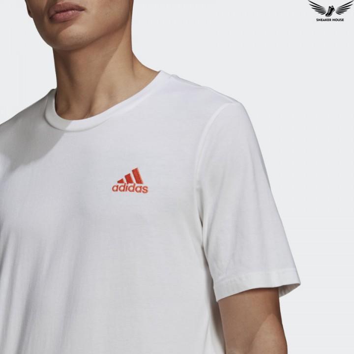 Áo thun nam Adidas chính hãng thêu logo T-SHIRT GK9650