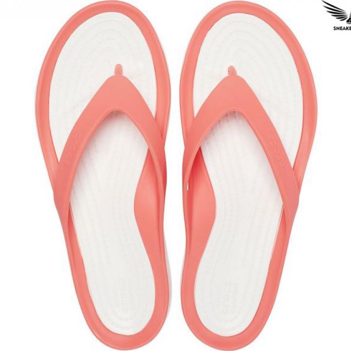 Dép xỏ ngón nữ Crocs chính hãng Swiftwater Flip W pink 204974-6SL