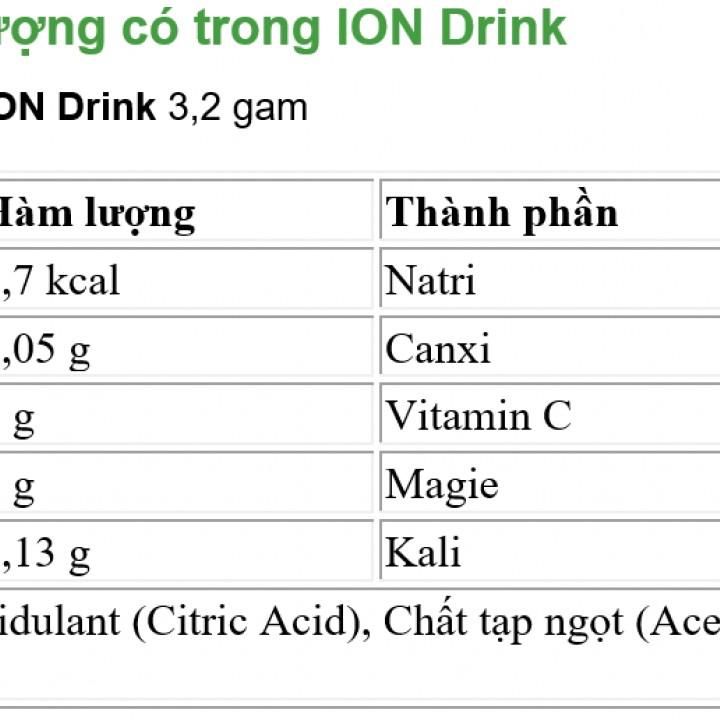 Nước uống bổ sung điện giải, khoáng chất Ion Drink