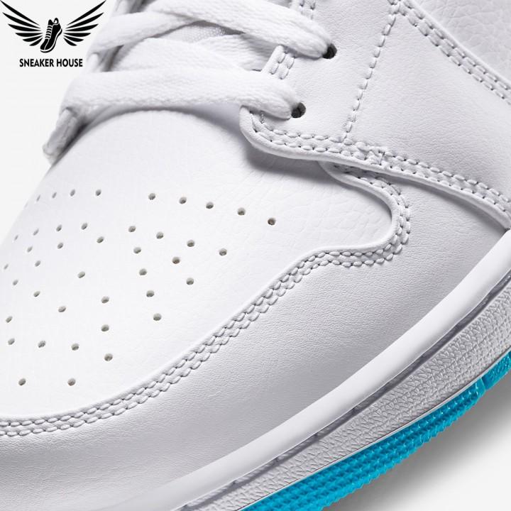 Giày thể thao Air Jordan 1 mid laser blue 554724-141
