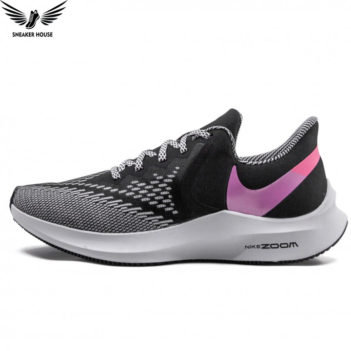 Giày thể thao NIKE Air Zoom Winflo 6 Black Lotus Pink Grey CN2153-001